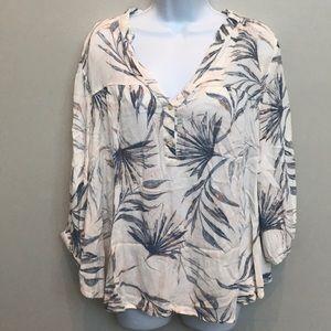 O'Neill palm button blouse
